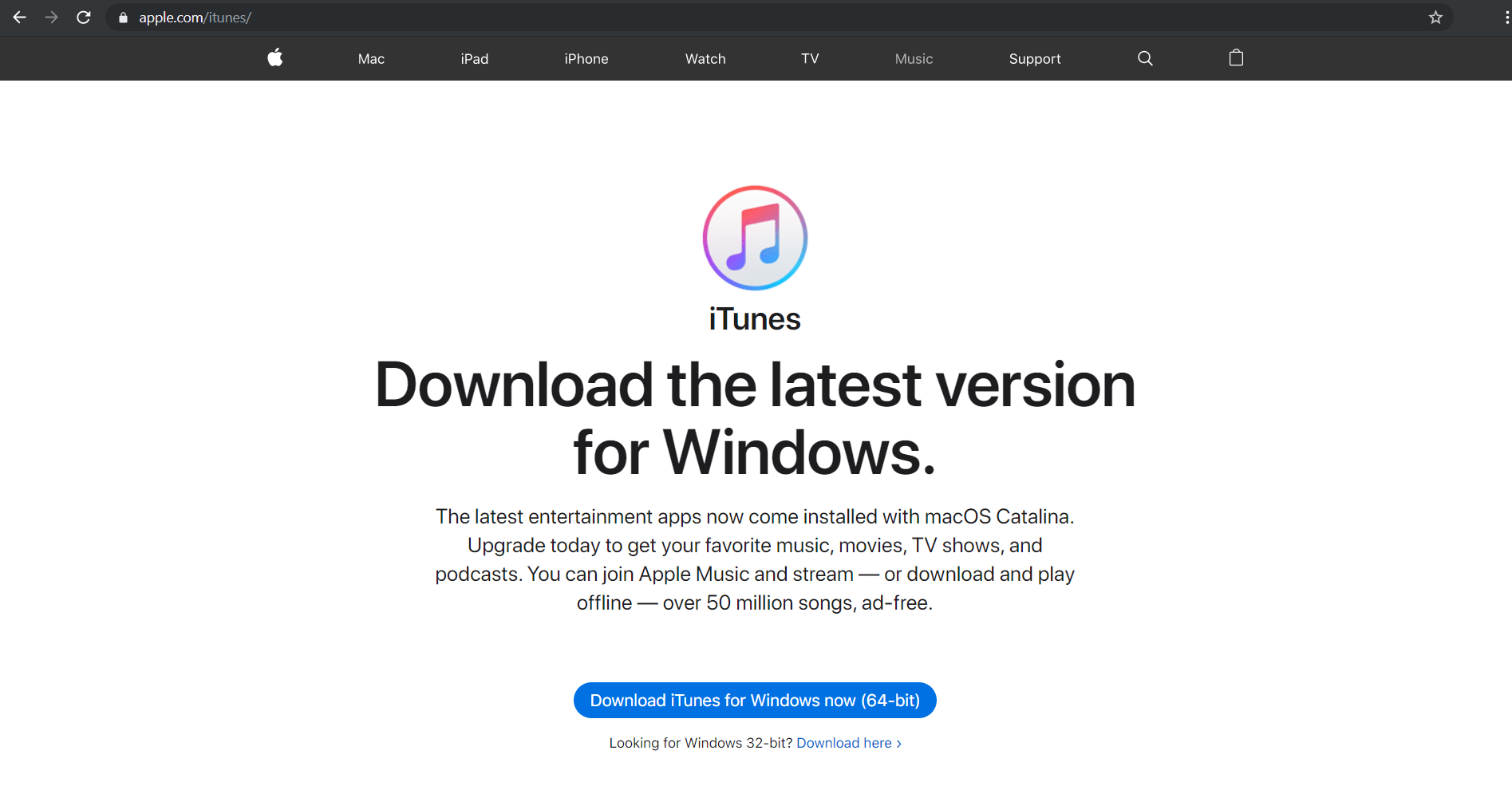 Descarga iTunes en Windows